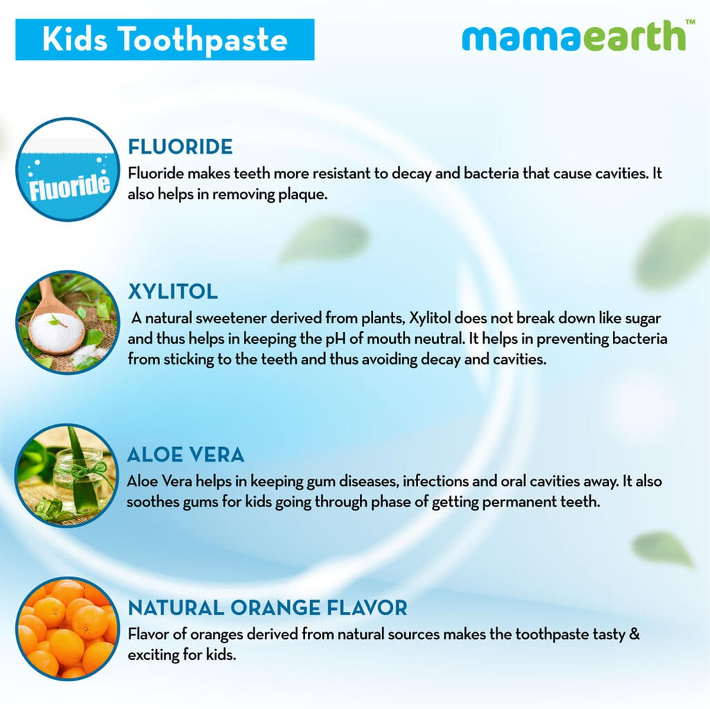 Sulfate Free Awesome Orange Toothpaste For Kids With Fluoride