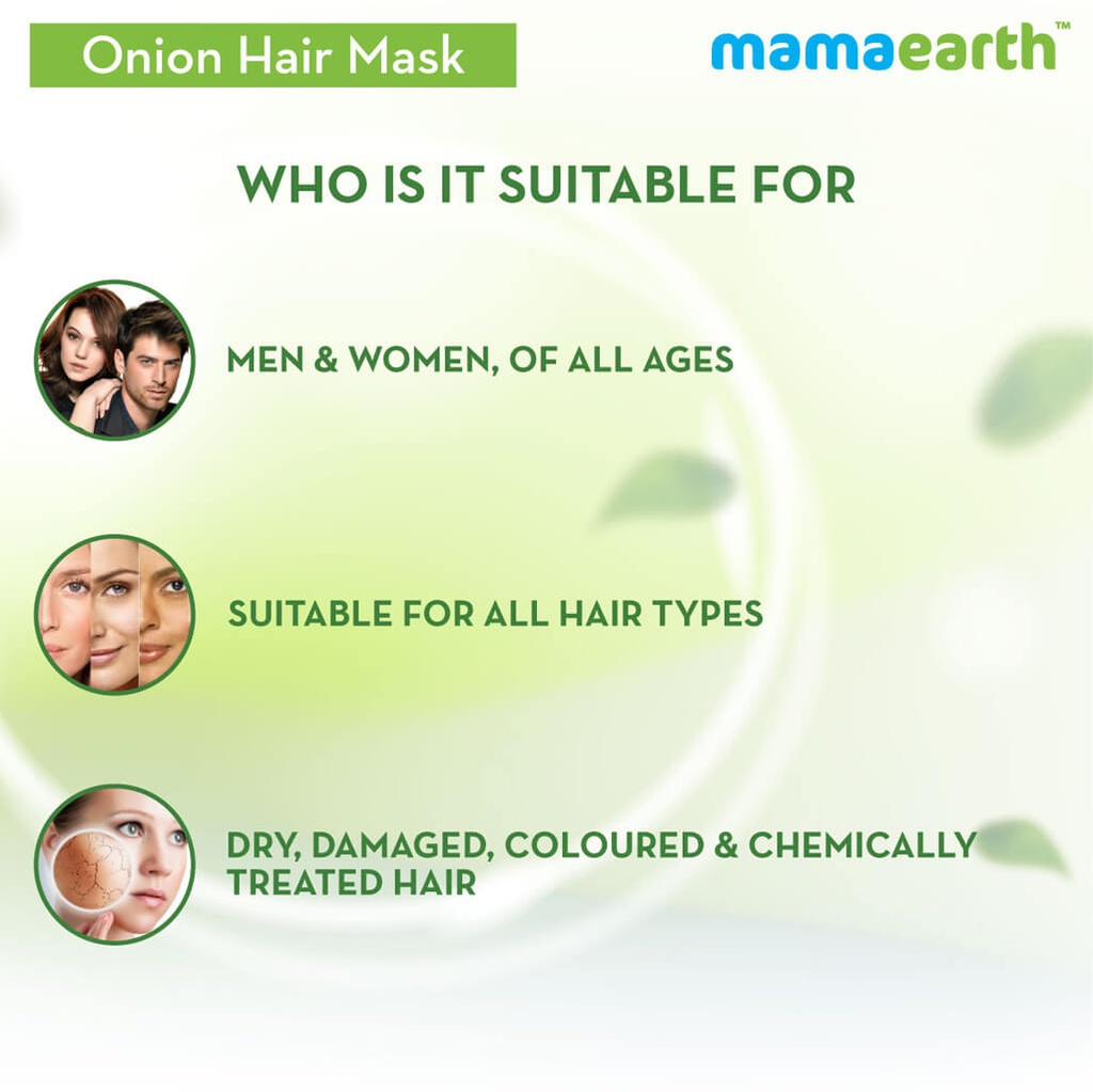 Onion Hair Mask For Hair Fall Control With Onion Oil and Organic Bamboo Vinegar