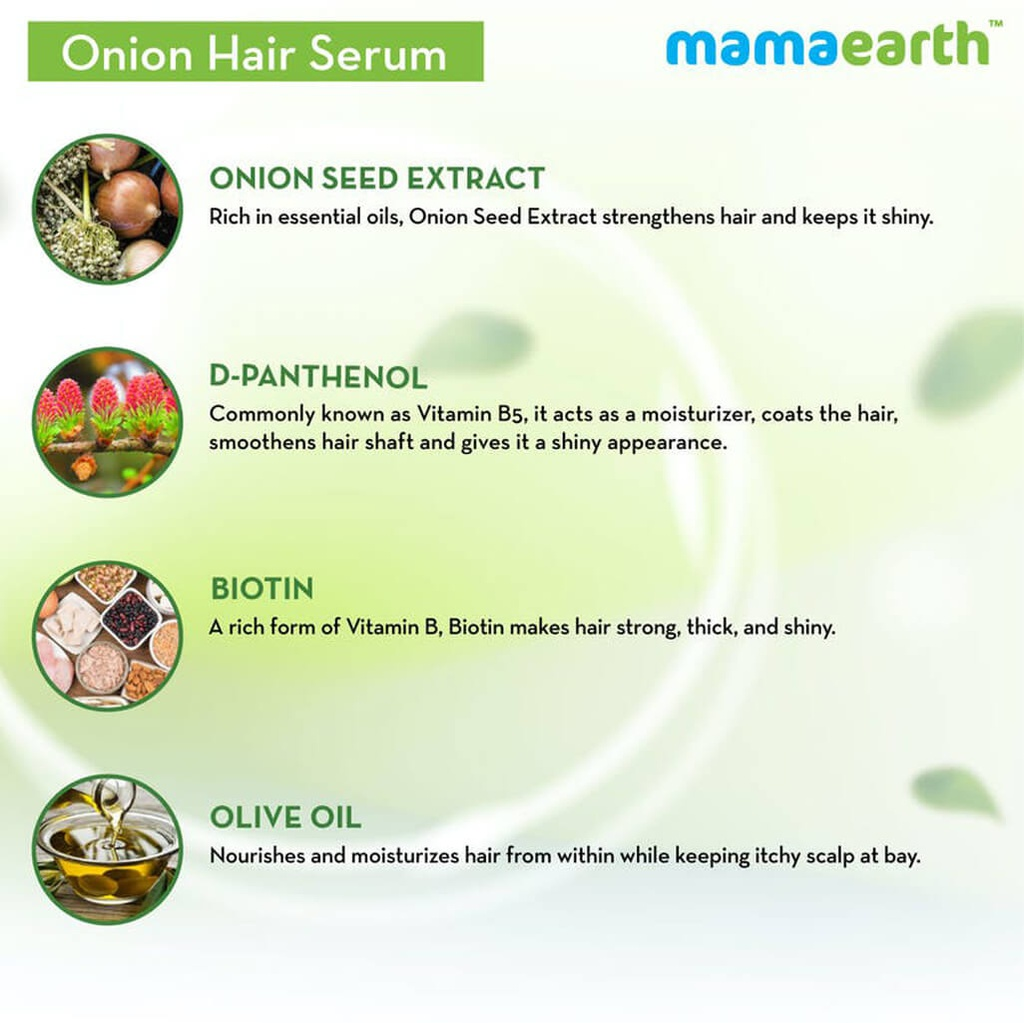 Onion Hair Serum with Onion & Biotin for Strong, Frizz-Free Hair – 100 ml
