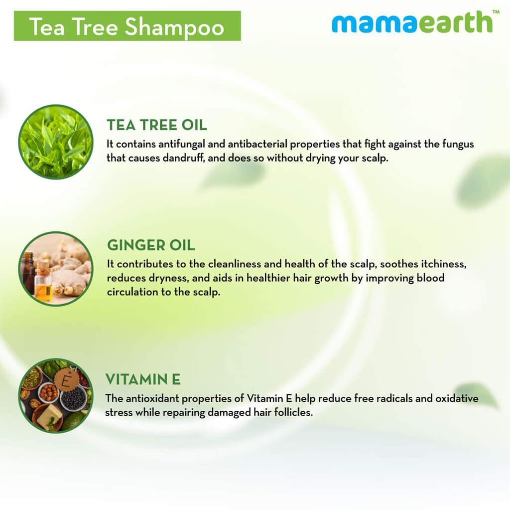 Tea Tree Shampoo for Dandruff Free Hair – 250ml