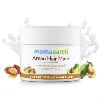 Argan Hair Mask with Argan, Avocado Oil, and Milk Protein for Frizz-free & Stronger Hair – 200ml