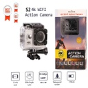 4K Ultra HD Water Resistant Sports Wi Fi Action Camera and 2 Inch Display (16MP, Black)
