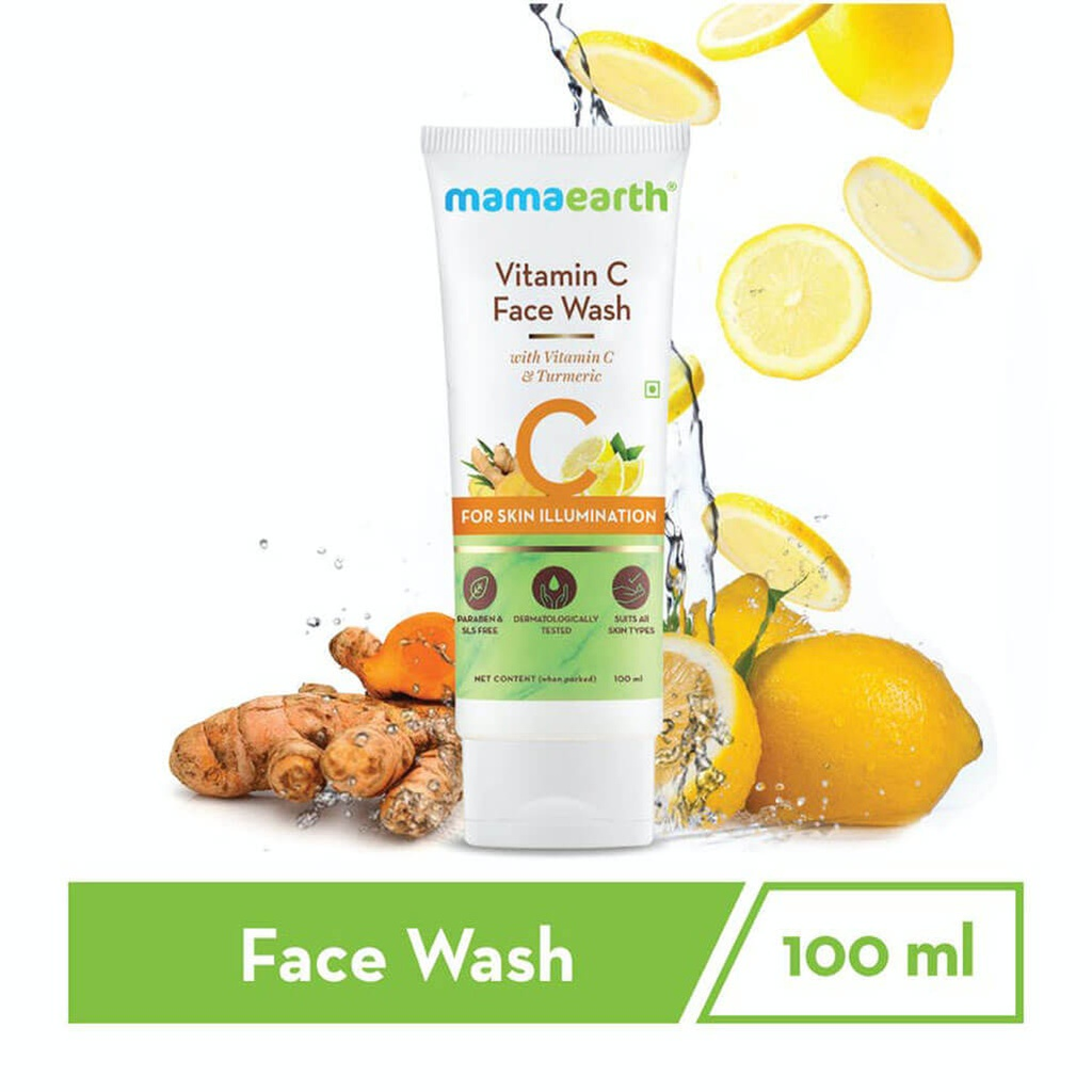 Vitamin C Face Wash with Vitamin C and Turmeric for Skin Illumination – 100ml